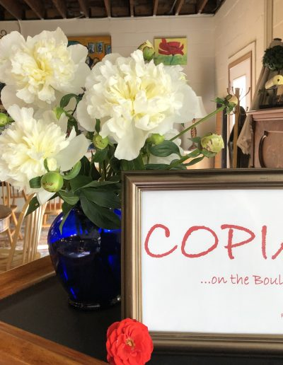 COPIA Peonies on the Bar